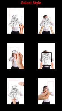 Camera Magic:スタイル選択画面