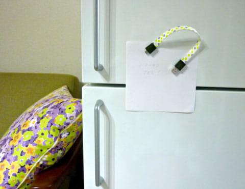 金属製の家具や冷蔵庫に貼り付けておくこともできる