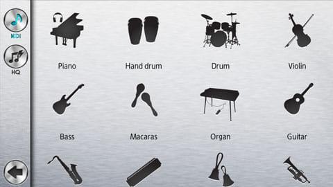 Pianist HD - あなたのためのピアノ:ピアノアイコンから楽器を変更しよう