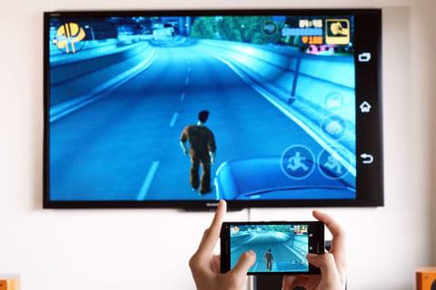 ゲームを大画面で表示。音楽、動画、Webサイトなども大画面で楽しめる