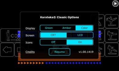 Karateka Classic:グラフィックの変更も可能。