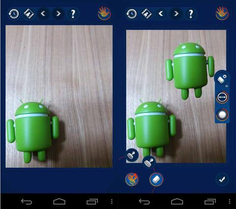 Handy Photo:「Clone Stamp」では、画像の指定部分をコピー&ペーストできる