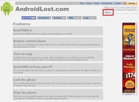 Android Lost:GoogleアカウントをWEBサイトから登録する