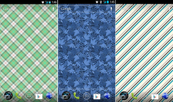 Pattern Wallpapers:「Train of Thought」(左)「Winters Foliage」(中)「oh ginger boy」(右)