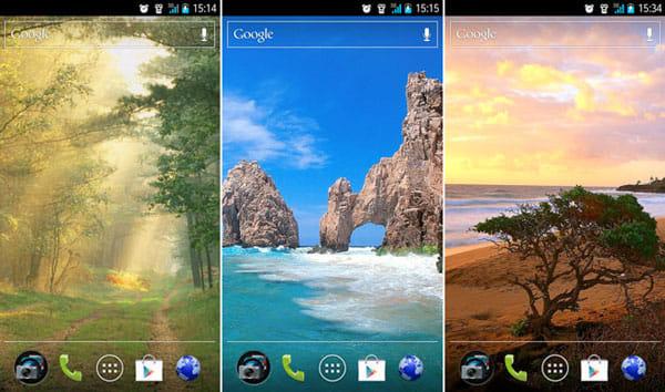 壁紙アプリ - 背景 - 画像 Backgrounds:いずれも「Landscapes」から選択