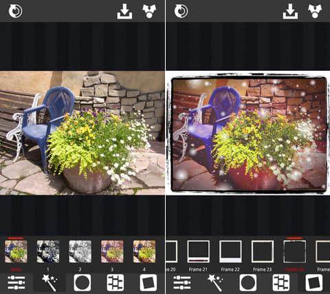 XnRetro:加工前の写真(左)加工後の写真(右)