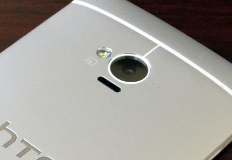 「HTC UltraPixel Camera」と名付けられた400万画素のメインカメラ