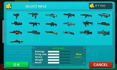 ミニ銃撃戦:カウンターストライク:武器を購入してキャラ強化。