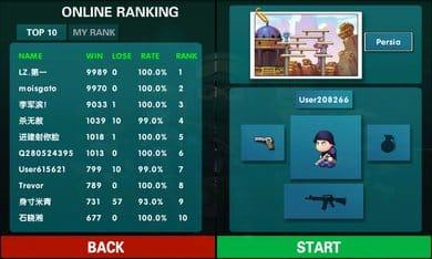 ミニ銃撃戦:カウンターストライク:オンライン対戦が可能。