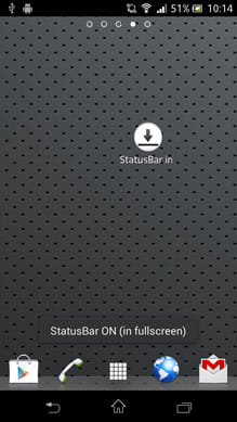 StatusBar in FullScreen