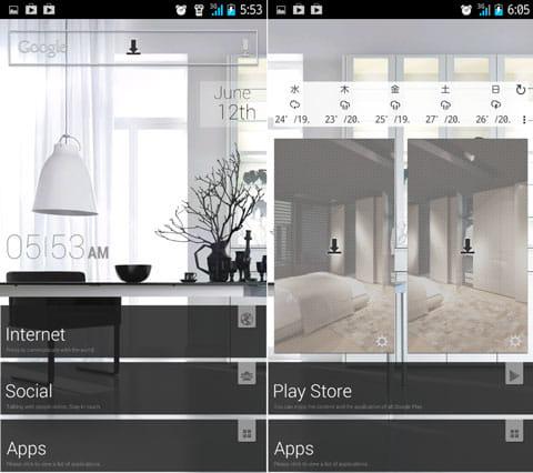 [バズランチャー]1万以上の無料テーマGETしよう!:整理されたかっこいいホーム画面