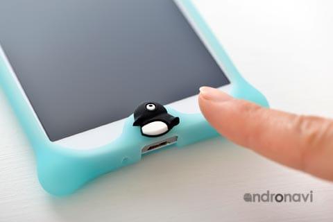 ペンギンを押せばホームボタンが反応
