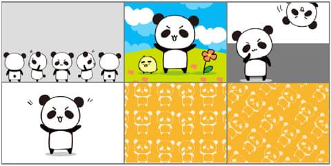 だーぱんきせかえ for Android(着せ替えカスタム):6種類の壁紙