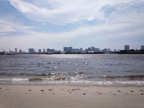 浜辺:ARROWS NXで撮影