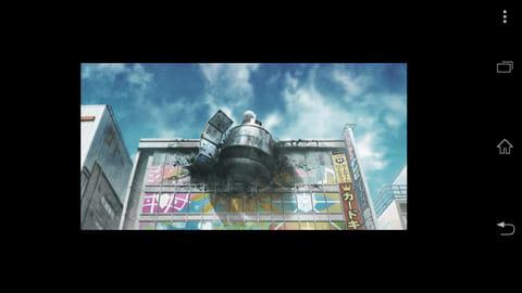 STEINS;GATE:ラジ館に突き刺さった人工衛星(?)。その正体は物語後半で明らかになる