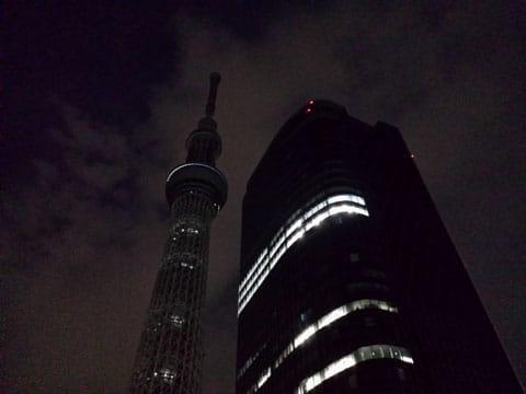 夜景:GALAXY S4の「夜間オート」で撮影