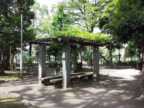 公園のベンチ:GALAXY S4で撮影