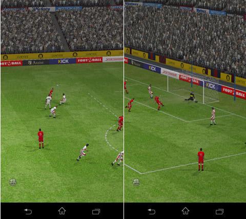 スマサカbyGMO-サッカー日本代表登場!カードバトルゲーム:ゴールシーンなどは3D演出が入る。リアルな選手の動きに注目!
