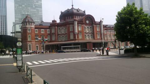 復元された東京駅丸の内口をELUGA Pでパシャリ