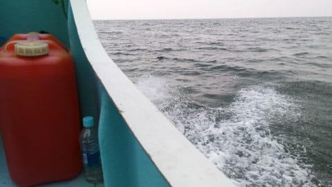 海の上では3G回線に切り替わった