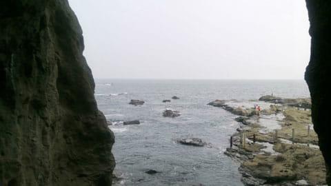 岩屋洞窟で撮影