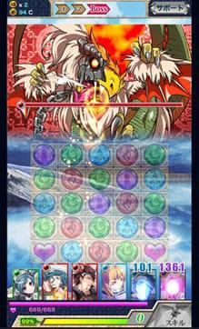 神連鎖ジュエルヘヴン:連鎖が爽快なパズルRPG。