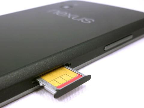 SIMカードはここから挿入