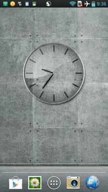 ガラス時計。ウィジェット。 LIGHT。