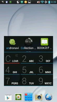 App Dialer–local T9 app search:「2」と「6」を押した時点で『andronavi』は表示される