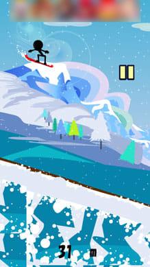 滑走!スノーボードダウンヒル:ポイント3