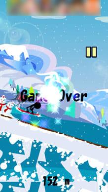 滑走!スノーボードダウンヒル:ポイント4