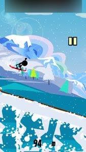 滑走!スノーボードダウンヒル:華麗なジャンプ