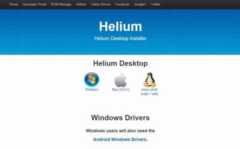 Helium - App Sync and Backup:専用ページから使用しているOSに合ったソフトをダウンロード