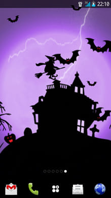 ハロウィンの夜ライブ壁紙