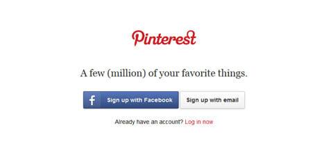 新規でアカウントを作成するか、『Facebook』アカウントで登録できる