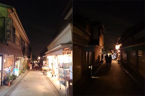 どちらもホワイトバランスを太陽のアイコンに設定。明るさ+1で撮影(左)明るさ+0.3で撮影(右)
