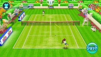 スマッシュ・テニス ラブショット!!:「マニュアル」だと操作が難しいが、おもしろみはこちらの方がある。