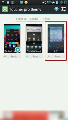 io7 Toucher Pro Theme:「Theme」から本アプリをタップするだけ