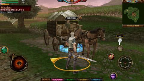 【その選択は善か、悪か?】RoD:ゲームスタート!画面下にあるのが各種ゲームパッド