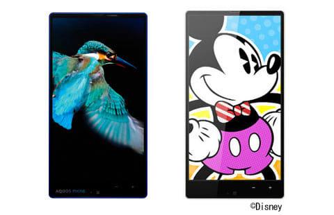 「AQUOS PHONE Xx SoftBank 302SH」(左)「DM016SH」(右)