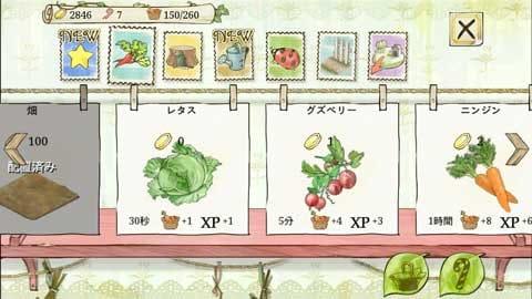 ピーターラビットガーデン- 絵本・農園・育成・箱庭・デコ:野菜は収穫までの時間や対価が異なる