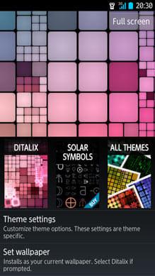 Ditalix Live Wallpaper Suite:設定画面