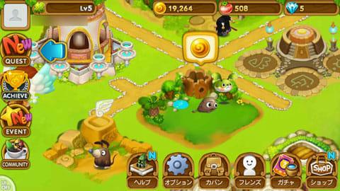 ウパルフレンズ~かわいいどうぶつ育成ゲーム~:生息地に「マナボール」が出ていれば回収できる