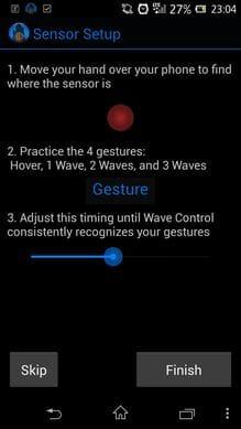 Wave Control:感度を設定して、使いやすくカスタマイズ