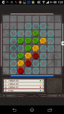 ReversiRobo X Revision:必殺技は自分のコマ(青色)が盤上からなくなるのが発生条件