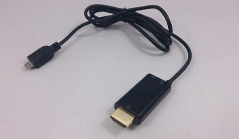 HDMI出力に変換してテレビと接続できるMHLケーブル