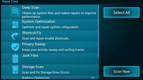 Ezy System Tuner & Optimizer:最適化したい項目を選ぶことができる「Deep Care」
