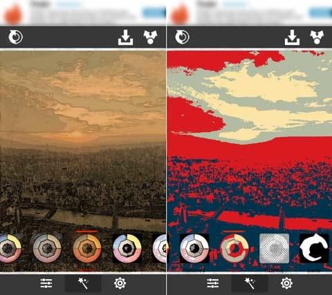 XnSketch:柔らかなスケッチ風からエッジのきいた加工まで、全20種類のエフェクトを使用できる。「Sketch 3」(左)「Hope」(右)