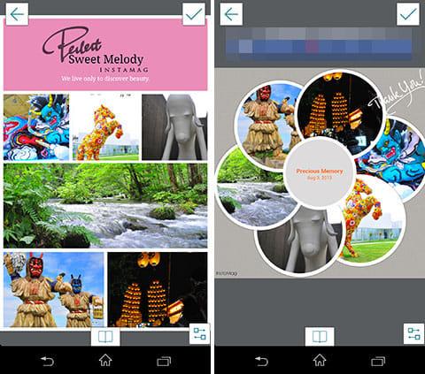 InstaMag - Magazine Collage:レイアウトの変更をリアルタイムで確認しながら編集
