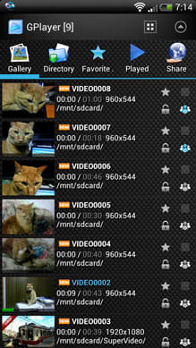 GPlayer (Super Video Floating):「VIDEO0008」と「VIDEO0007」をシェア